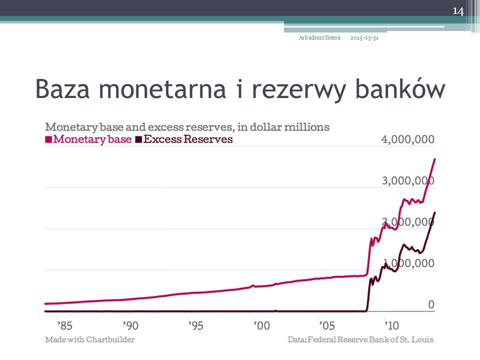 Baza monetarna i rezerwy banków 2015-03-31Arkadiusz Sieroń 14