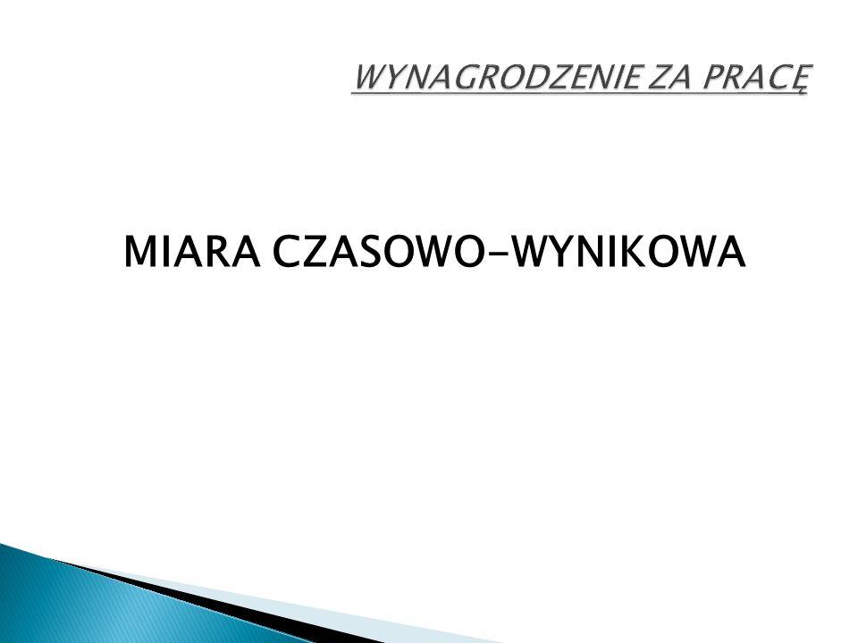 MIARA CZASOWO-WYNIKOWA
