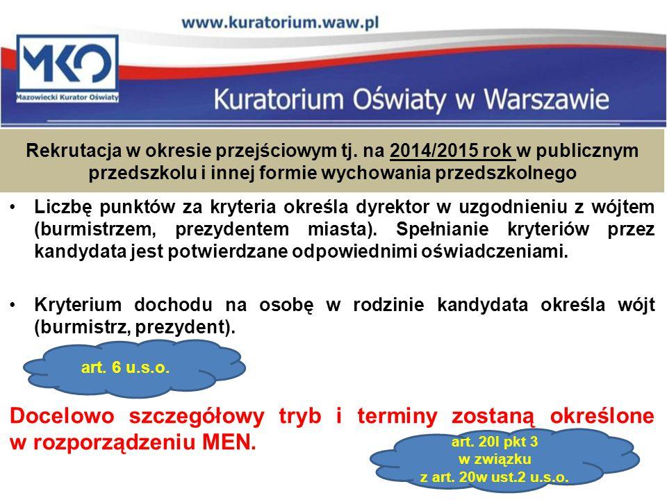Rekrutacja w okresie przejściowym tj.