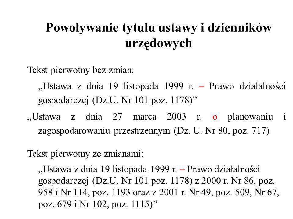 USTAWA z dnia 27 kwietnia 2001 r.Prawo ochrony środowiska.