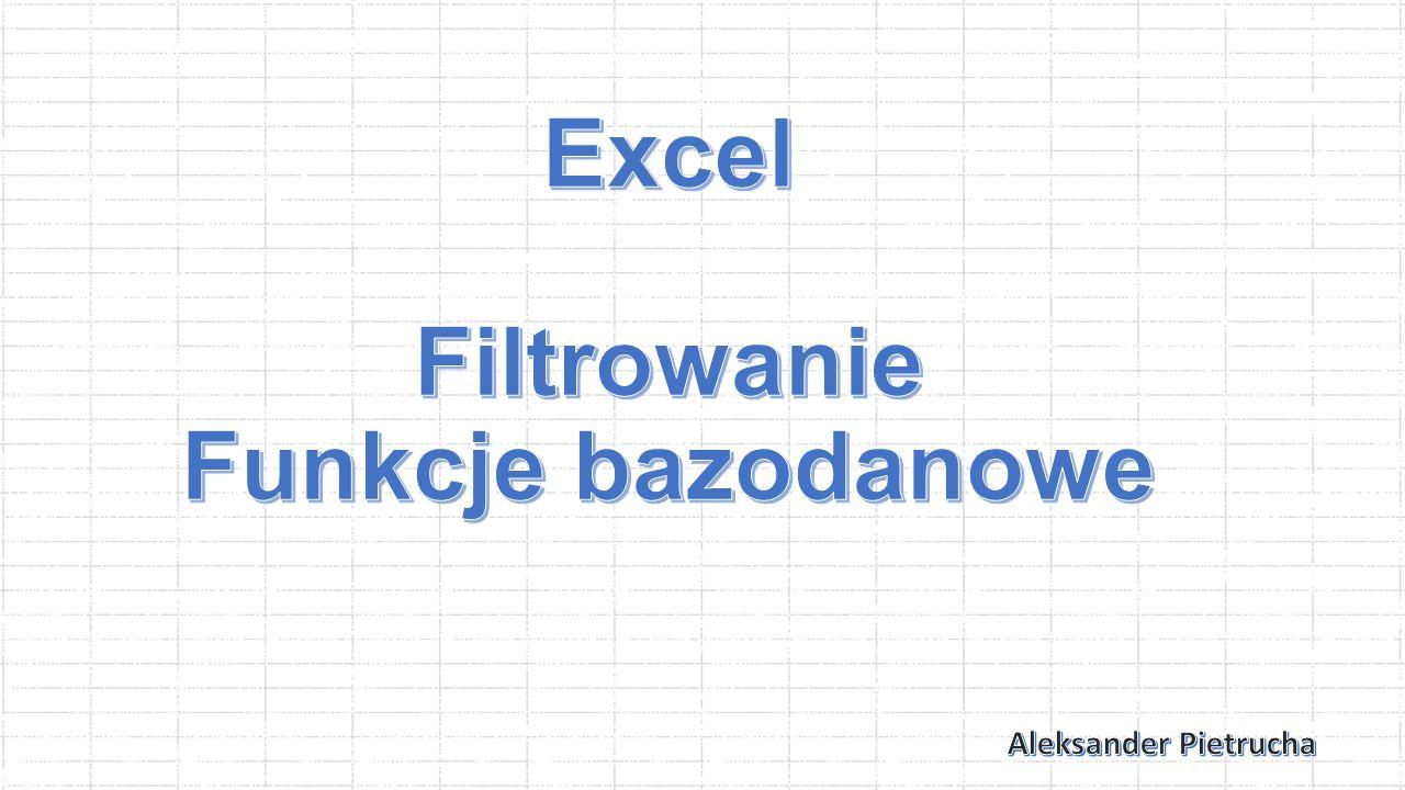 Różne rodzaje filtrowania można ze sobą łączyć, dzięki temu możemy znaleźć osoby których imię zaczyna się na W a kończy na A.