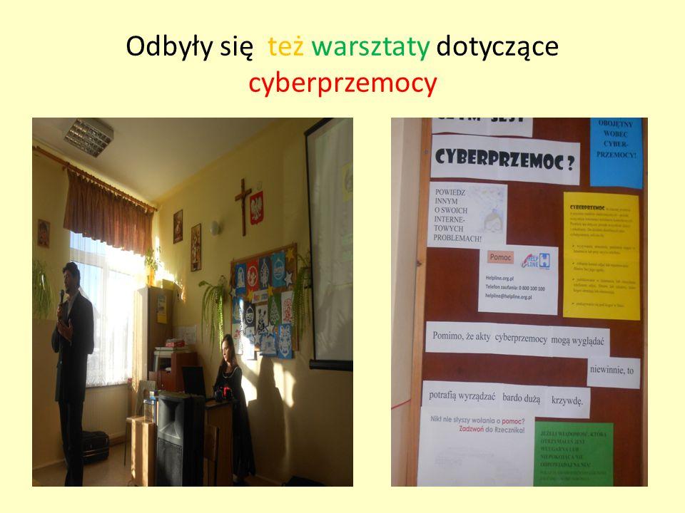 Odbyły się też warsztaty dotyczące cyberprzemocy