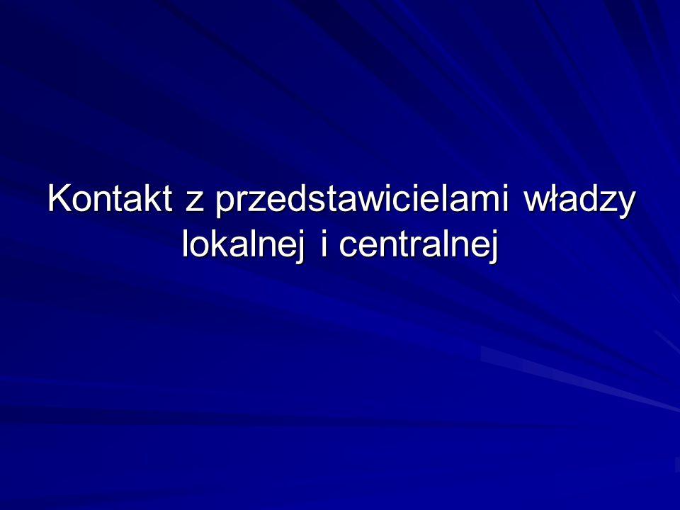 Kontakt z przedstawicielami władzy lokalnej i centralnej