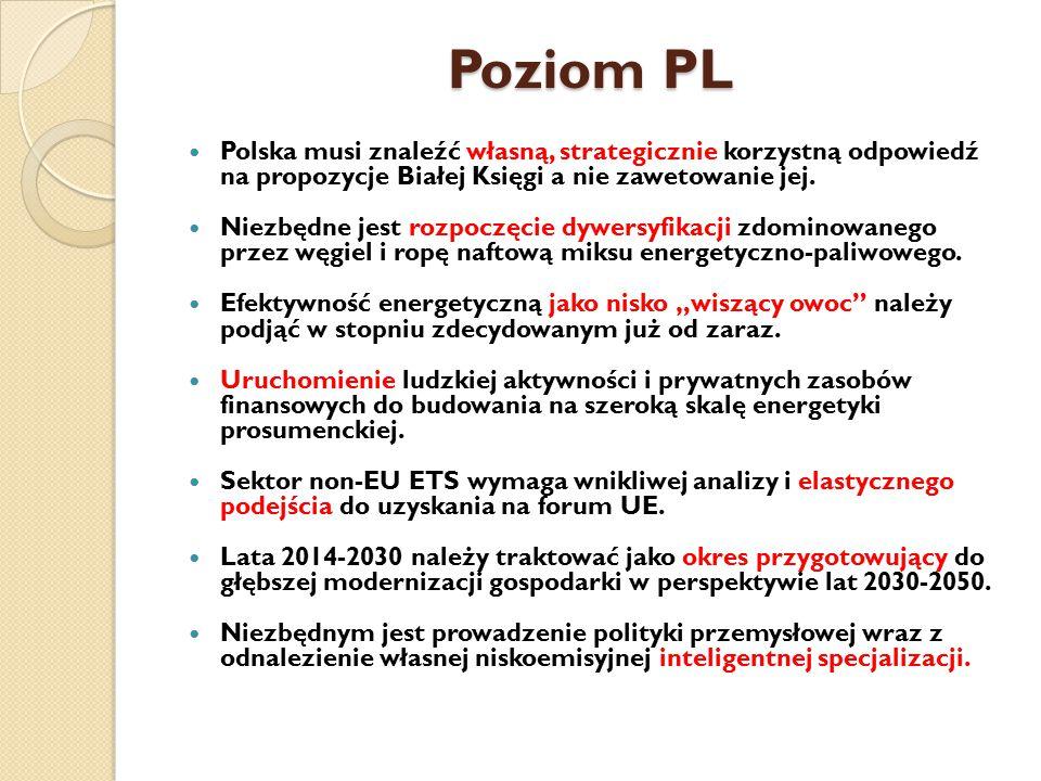 Poziom PL Polska musi znaleźć własną, strategicznie korzystną odpowiedź na propozycje Białej Księgi a nie zawetowanie jej. Niezbędne jest rozpoczęcie