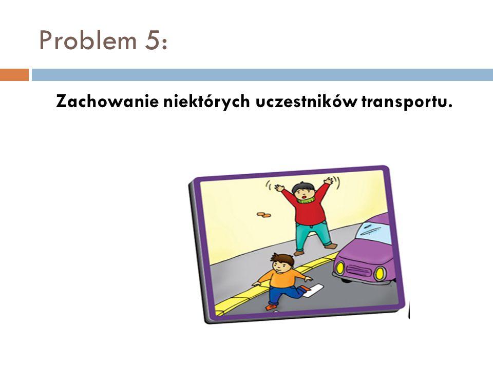 Problem 5: Zachowanie niektórych uczestników transportu.