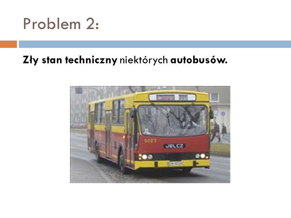 Problem 2: Zły stan techniczny niektórych autobusów.