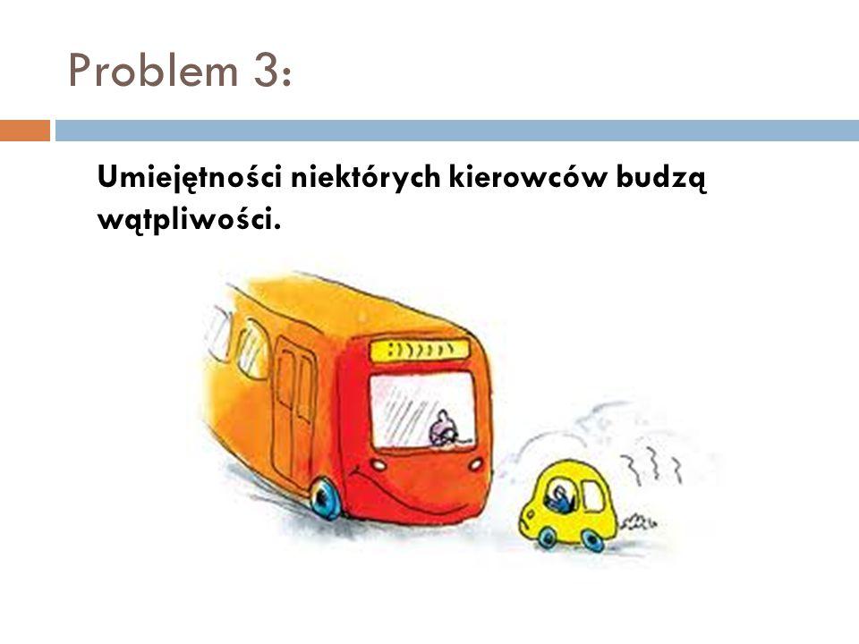 Problem 3: Umiejętności niektórych kierowców budzą wątpliwości.