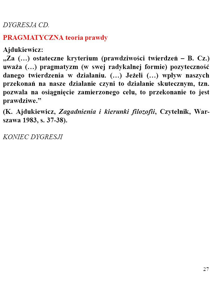 27 DYGRESJA CD.