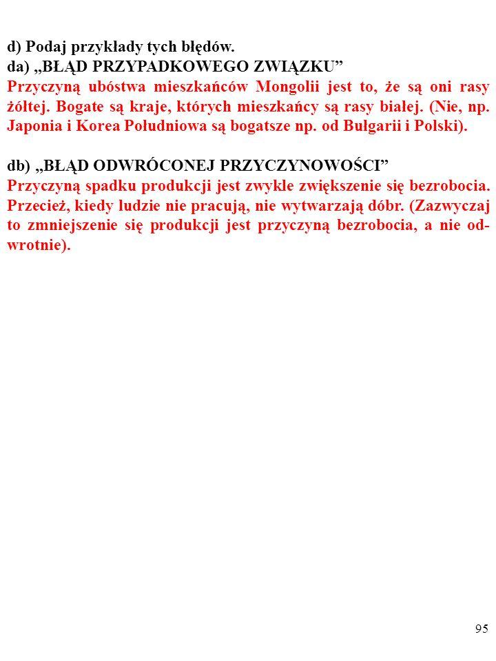 94 d) Podaj przykłady tych błędów.