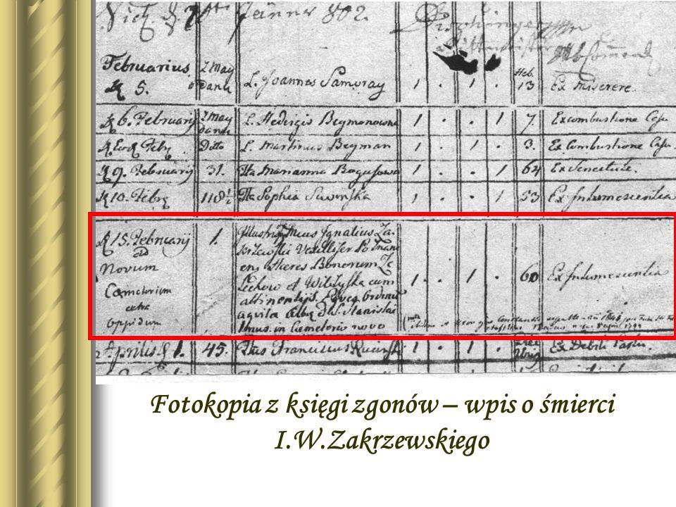 Exlibrys biblioteki Zakrzewskiego