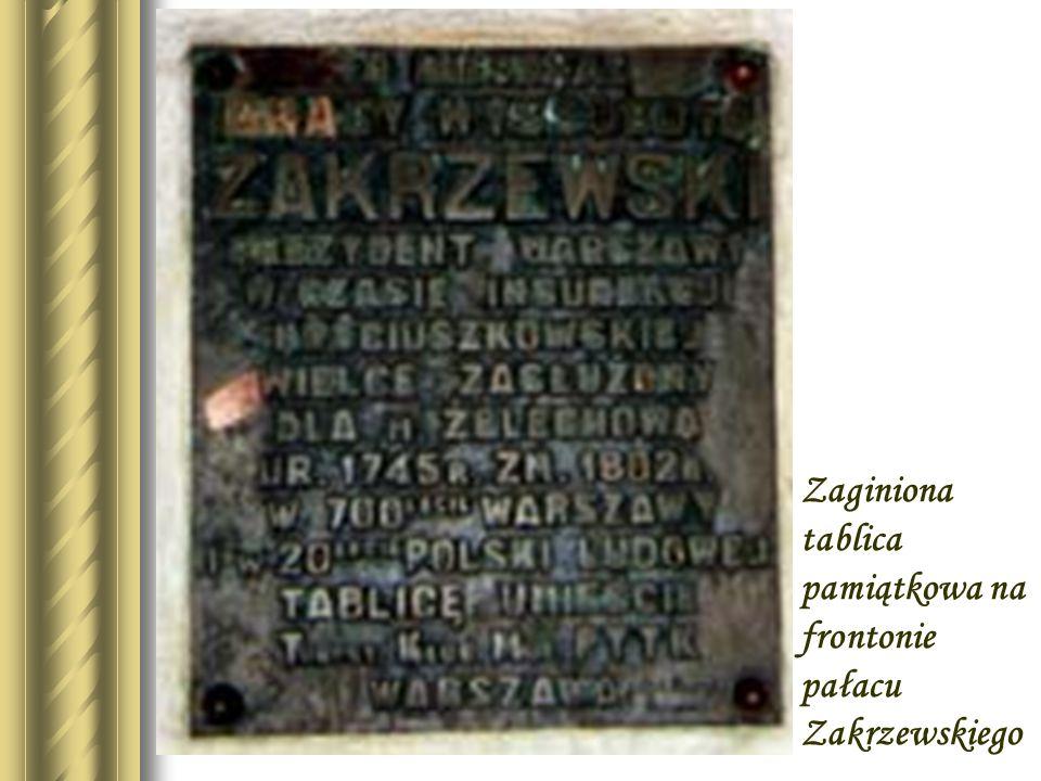 Portret Zakrzewskiego znajdujący się w Warszawie