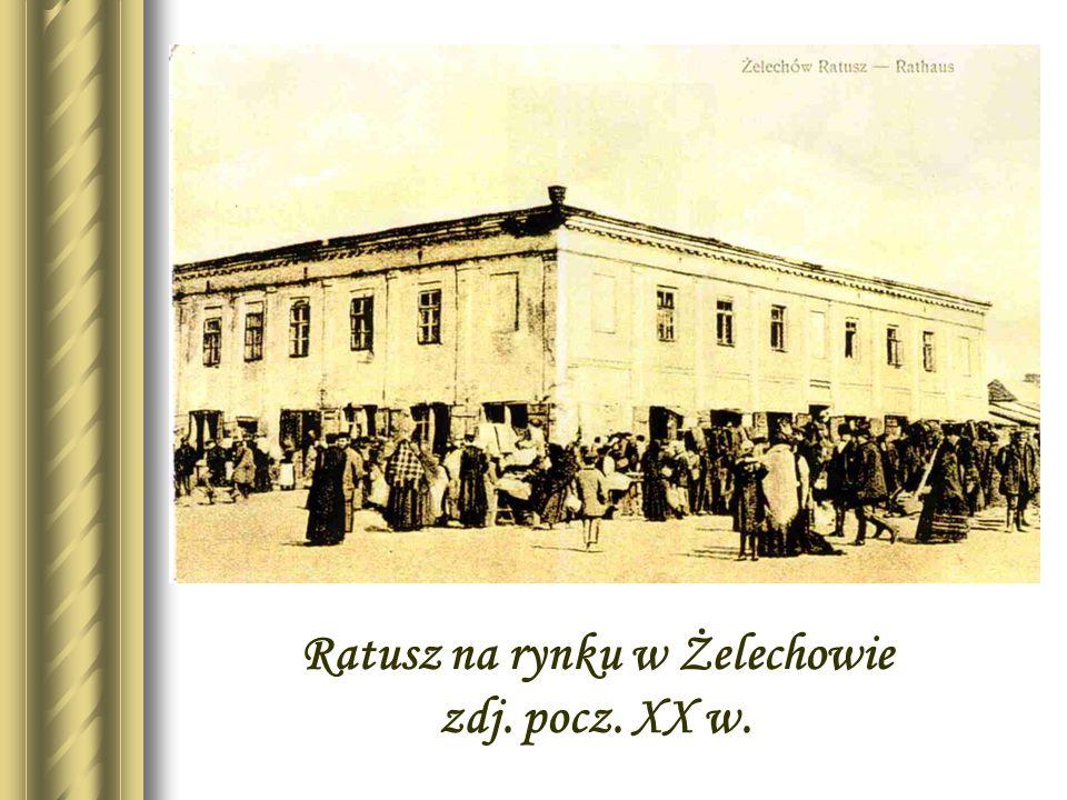 Zdjęcie rynku żelechowskiego z lotu ptaka