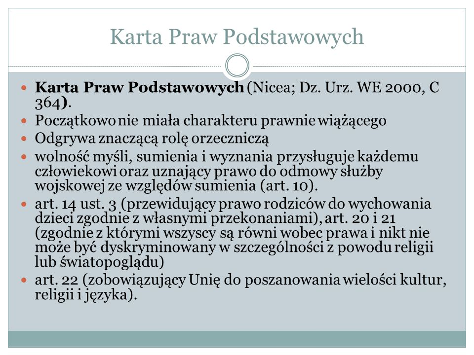 Karta Praw Podstawowych Karta Praw Podstawowych (Nicea; Dz.
