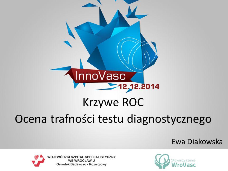 Krzywe ROC Ocena trafności testu diagnostycznego Ewa Diakowska