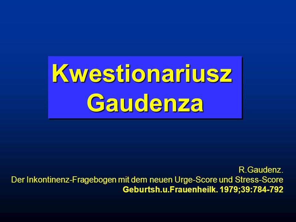 KwestionariuszGaudenzaKwestionariuszGaudenza R.Gaudenz.