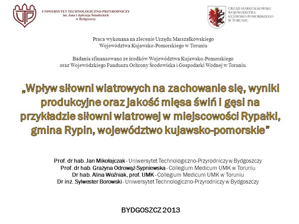 Praca wykonana na zlecenie Urzędu Marszałkowskiego Województwa Kujawsko-Pomorskiego w Toruniu Badania sfinansowano ze środków Województwa Kujawsko-Pomorskiego oraz Wojewódzkiego Funduszu Ochrony Środowiska i Gospodarki Wodnej w Toruniu.