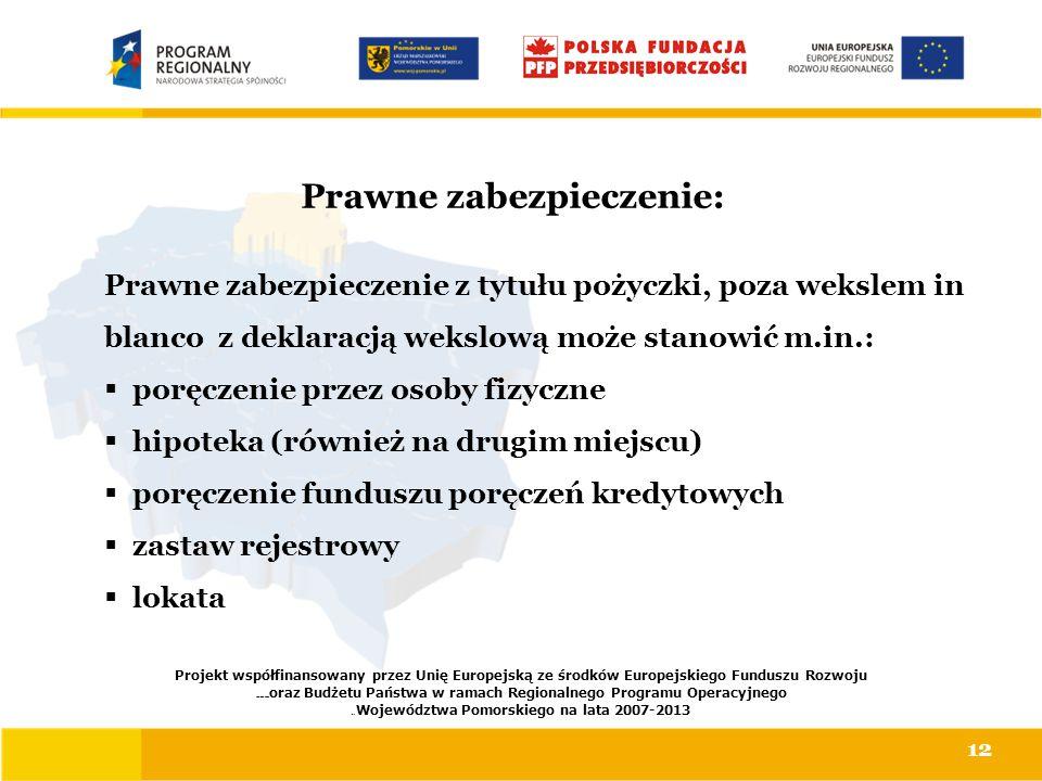 Prawne zabezpieczenie: Projekt współfinansowany przez Unię Europejską ze środków Europejskiego Funduszu Rozwoju Regionalnego oraz Budżetu Państwa w ra