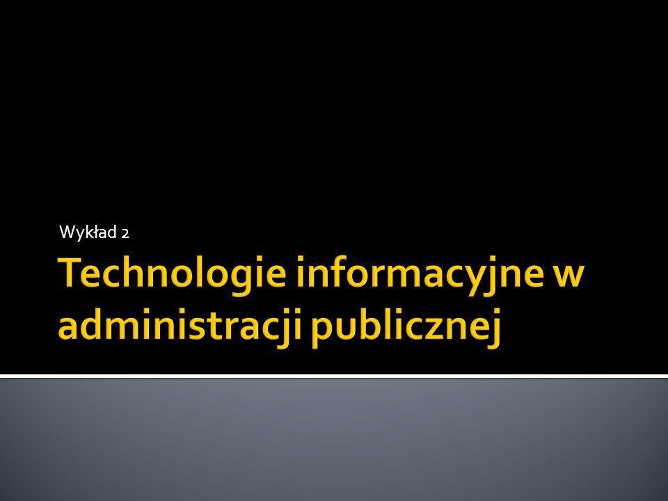 Podstawowe pojęcia Często pojęcie technologii informatycznej jest mylone z pojęciem technologii informacyjnej.