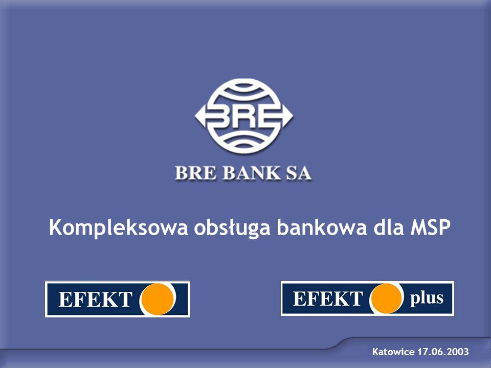 Kompleksowa obsługa bankowa dla MSP Katowice 17.06.2003