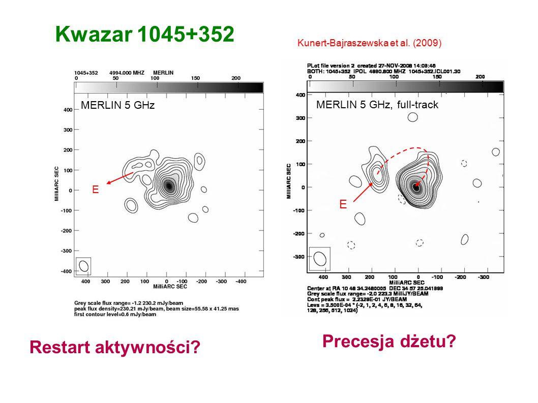 Kwazar 1045+352 MERLIN 5 GHz, full-track E Kunert-Bajraszewska et al.