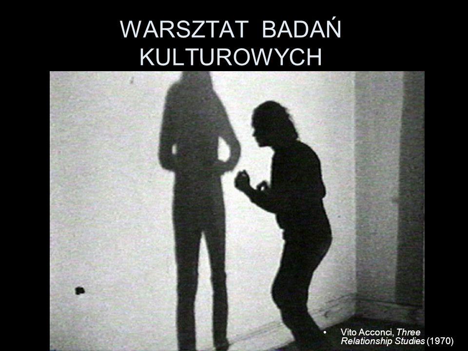 WARSZTAT BADAŃ KULTUROWYCH Vito Acconci, Three Relationship Studies (1970)