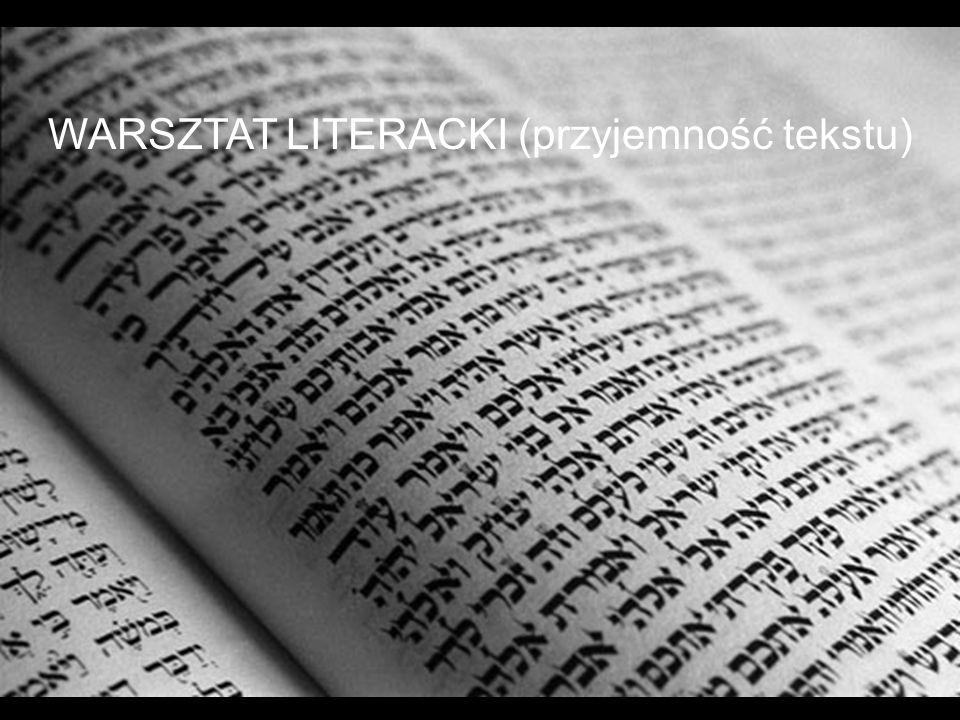 Warsztat literacki WARSZTAT LITERACKI (przyjemność tekstu)