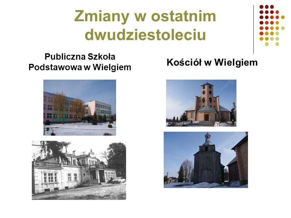 Zmiany w ostatnim dwudziestoleciu Publiczna Szkoła Podstawowa w Wielgiem Kościół w Wielgiem