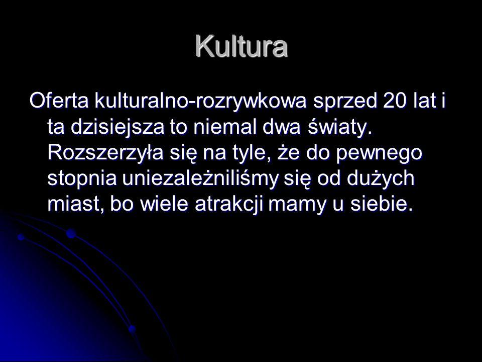 Kultura Oferta kulturalno-rozrywkowa sprzed 20 lat i ta dzisiejsza to niemal dwa światy.