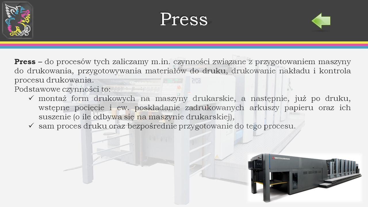PressPress Press – do procesów tych zaliczamy m.in.