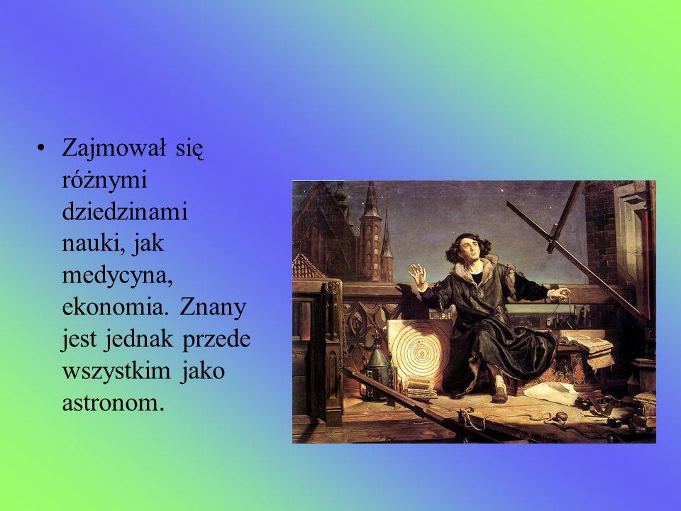 Zajmował się różnymi dziedzinami nauki, jak medycyna, ekonomia. Znany jest jednak przede wszystkim jako astronom.