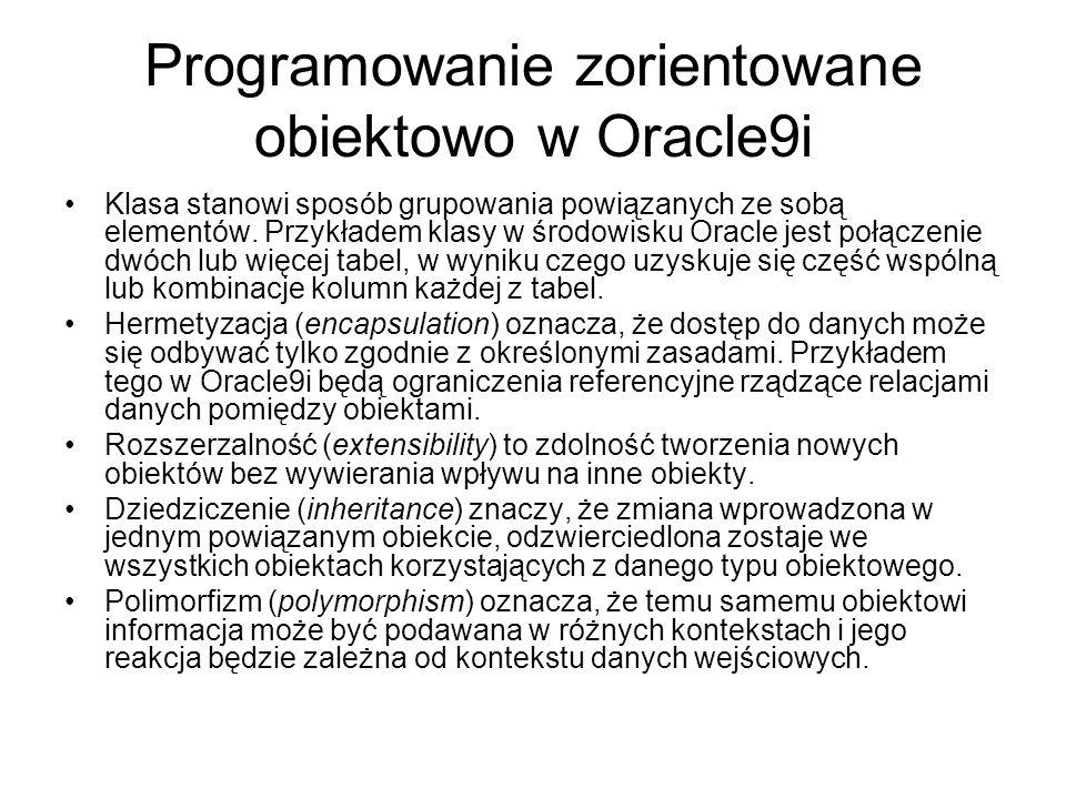 Narzędzia Oracle Narzędzia programistyczne Oracle – obecne od wersji 4.