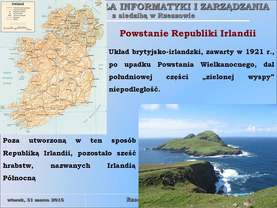 WYŻSZA SZKOŁA INFORMATYKI I ZARZĄDZANIA z siedzibą w Rzeszowie 15 wtorek, 31 marca 2015wtorek, 31 marca 2015wtorek, 31 marca 2015wtorek, 31 marca 2015 Rzeszów  Uwięzieni irlandzcy bojownicy zaczęli domagać sie przyznania im statusu więźniów politycznych.