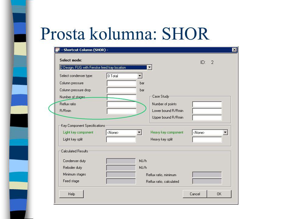 Prosta kolumna: SHOR