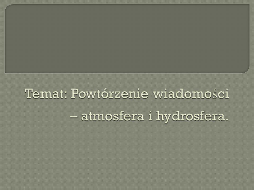 Wyja ś nij co to jest: a) ś nieg; b) mg ł a; c) hydrosfera; d) tsunami; e) wody mineralne.