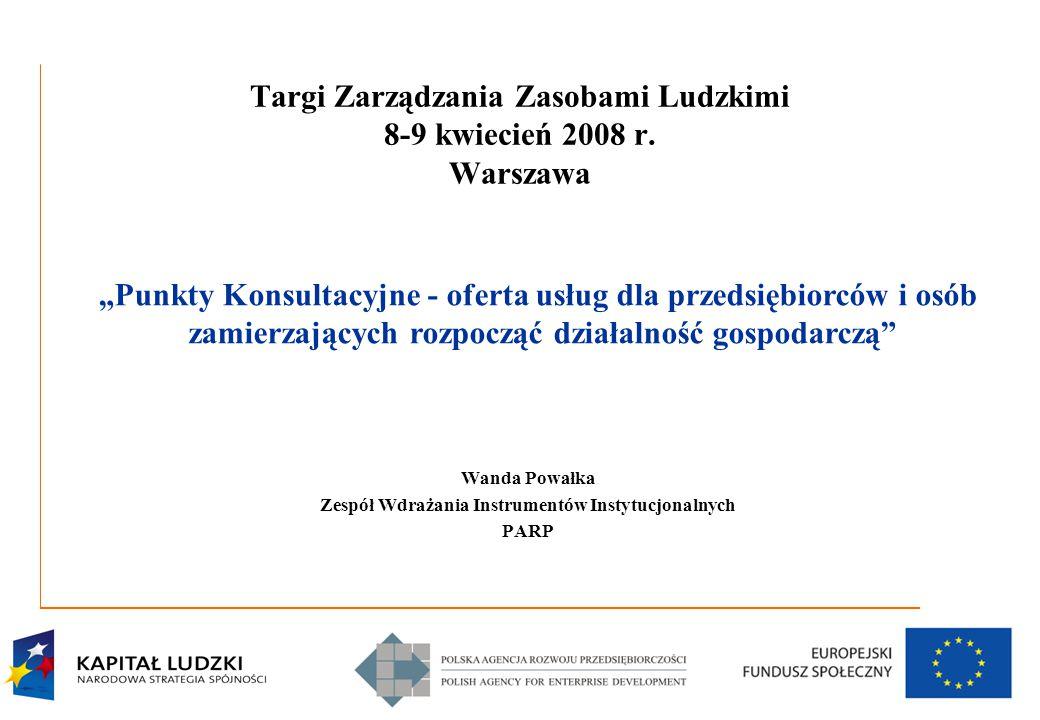 1 Targi Zarządzania Zasobami Ludzkimi 8-9 kwiecień 2008 r.
