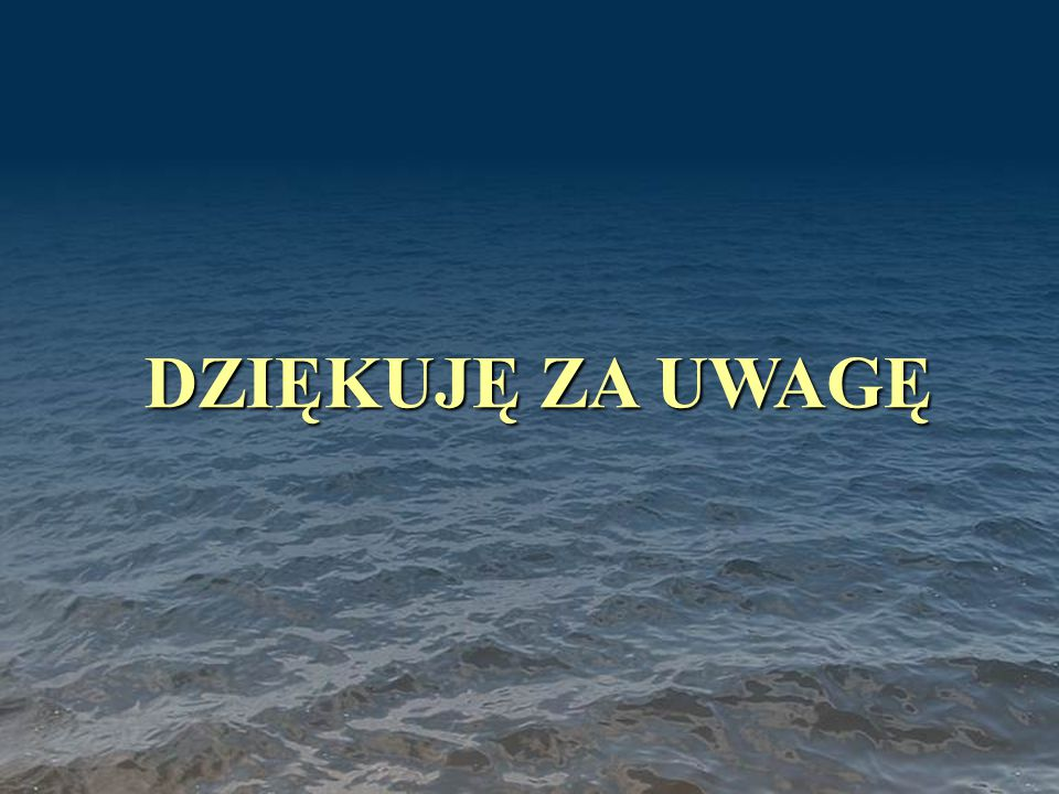 Koncepcja Zachodniopomorskiego Klastra Morskiego DZIĘKUJĘ ZA UWAGĘ