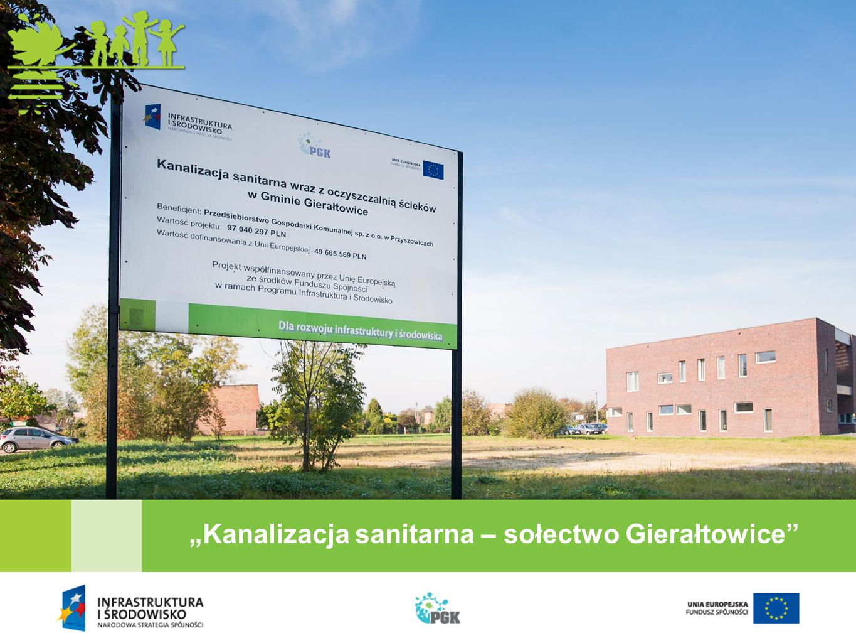 """Kanalizacja sanitarna – sołectwo Gierałtowice"
