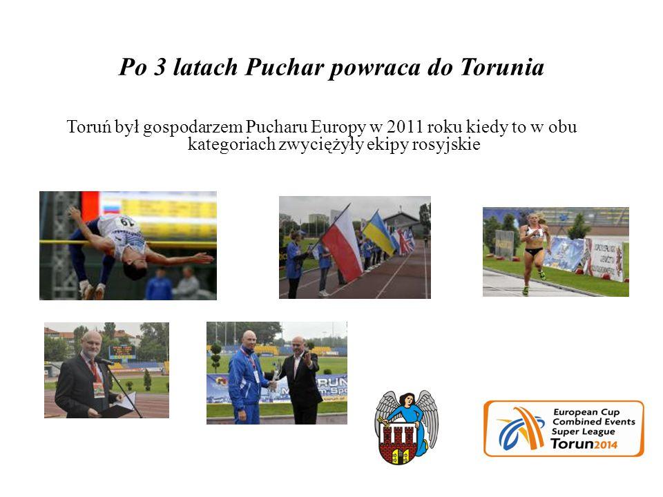 Po 3 latach Puchar powraca do Torunia Toruń był gospodarzem Pucharu Europy w 2011 roku kiedy to w obu kategoriach zwyciężyły ekipy rosyjskie