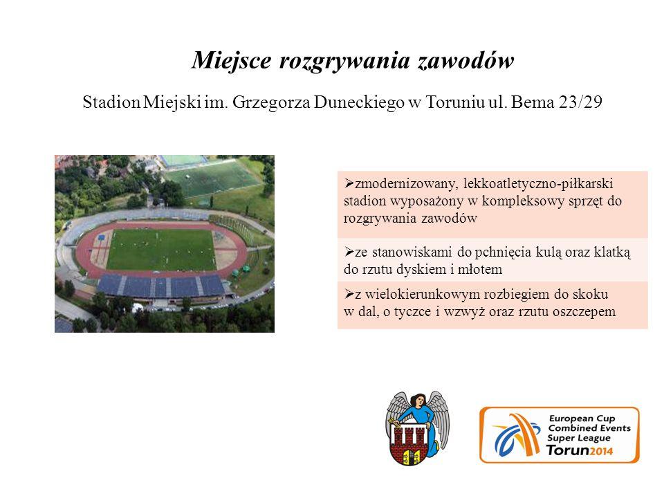 Stadion Miejski im. Grzegorza Duneckiego w Toruniu ul.