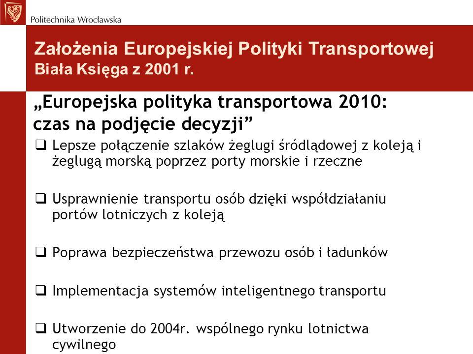"""""""Europejska polityka transportowa 2010: czas na podjęcie decyzji""""  Lepsze połączenie szlaków żeglugi śródlądowej z koleją i żeglugą morską poprzez po"""