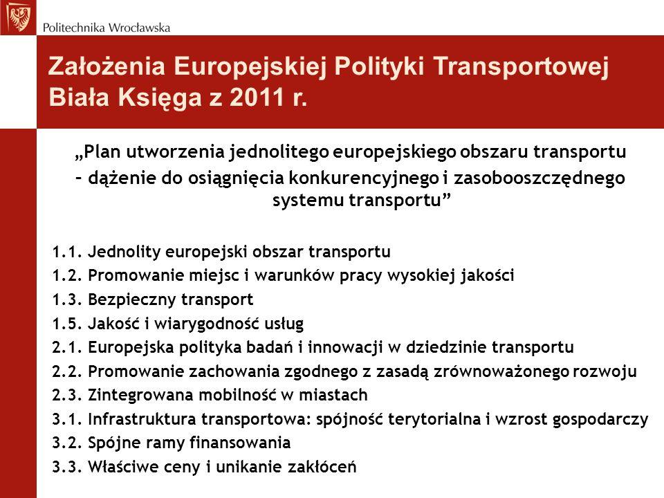 """""""Plan utworzenia jednolitego europejskiego obszaru transportu – dążenie do osiągnięcia konkurencyjnego i zasobooszczędnego systemu transportu"""" 1.1. Je"""