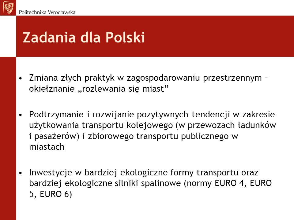 """Zadania dla Polski Zmiana złych praktyk w zagospodarowaniu przestrzennym – okiełznanie """"rozlewania się miast"""" Podtrzymanie i rozwijanie pozytywnych te"""