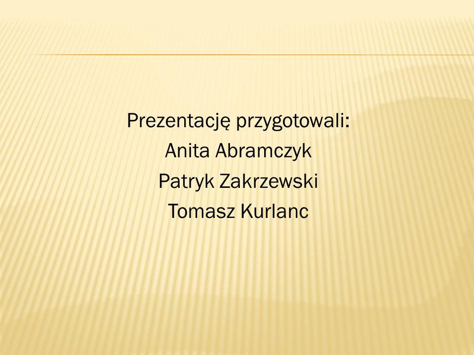 Prezentację przygotowali: Anita Abramczyk Patryk Zakrzewski Tomasz Kurlanc