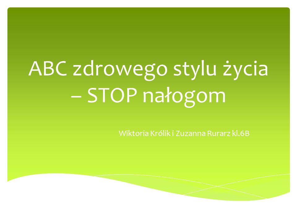 ABC zdrowego stylu życia – STOP nałogom Wiktoria Królik i Zuzanna Rurarz kl.6B
