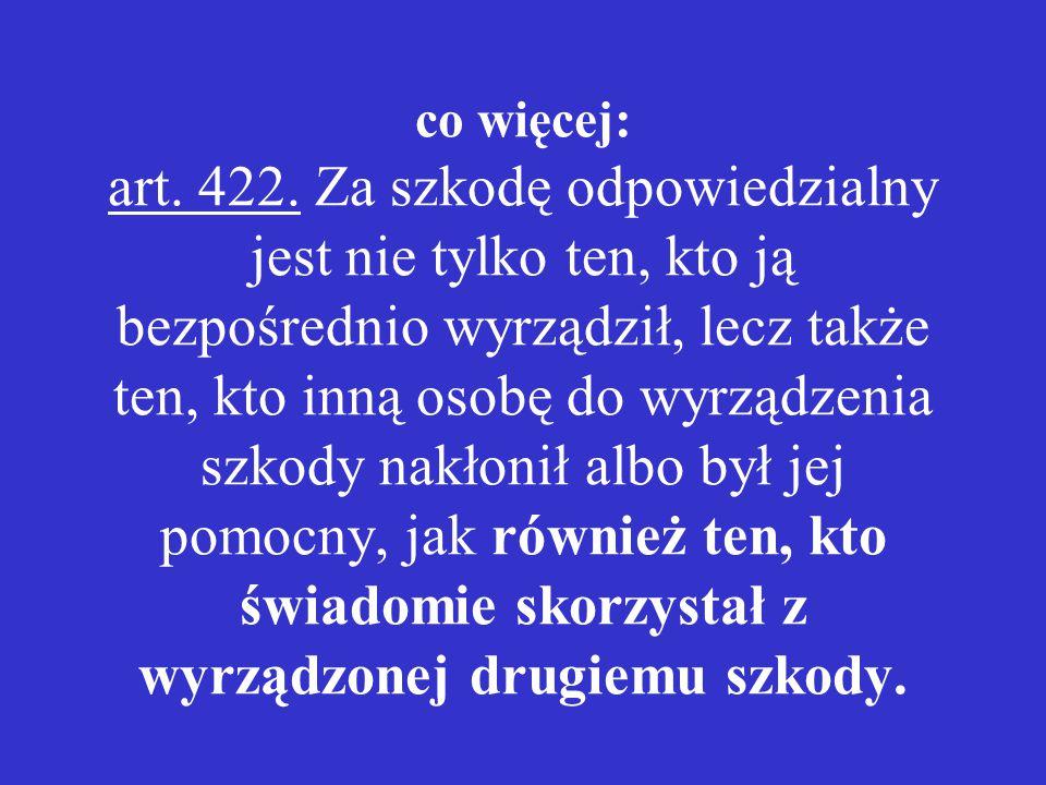 co więcej: art.422.