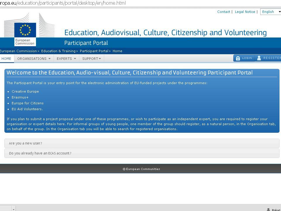 """KROK 3 – WYGENERUJ FORMULARZ WNIOSKU KROK 3 – WYGENERUJ FORMULARZ WNIOSKU https://eacea.ec.europa.eu/PPMT/ https://eacea.ec.europa.eu/PPMT/ Klikając na przycisk """"Create new application eForm Klikając na przycisk """"Create new application eForm Ważne Wybierz obszar finansowania Wybierz obszar finansowania Wybierz język formularza ( bez tego nie przejdziesz do kolejnego kroku) Wybierz język formularza ( bez tego nie przejdziesz do kolejnego kroku) Wybierz lidera i organizacje partnerskie (generowane na podst."""