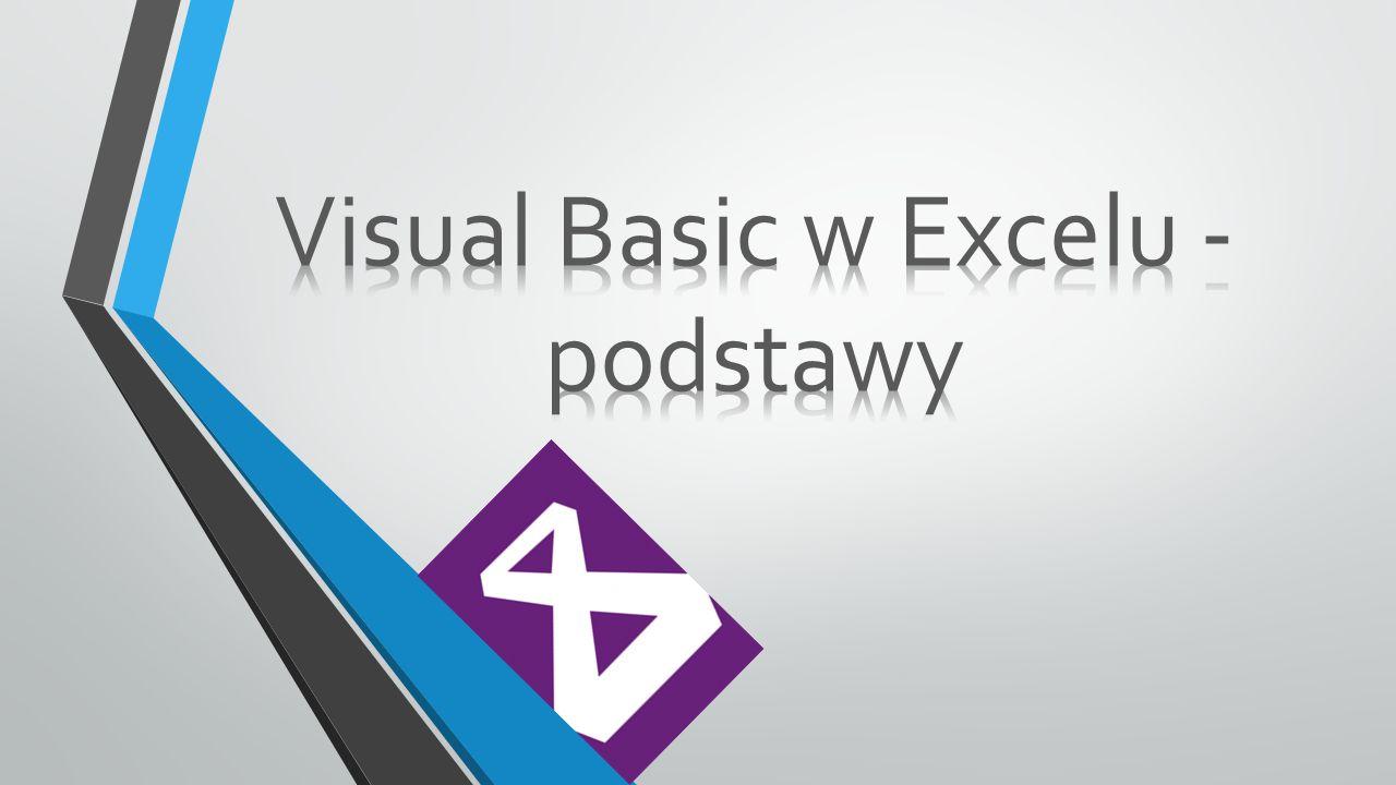 Visual Basic to środowisko programowania dzięki któremu możemy wykorzystać w pełni możliwości pakietu Microsoft Office lub innych aplikacji w których jest wykorzystywane.