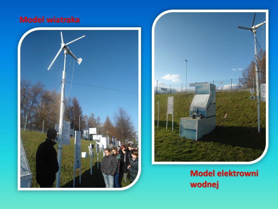 Model elektrowni wodnej Model wiatraka