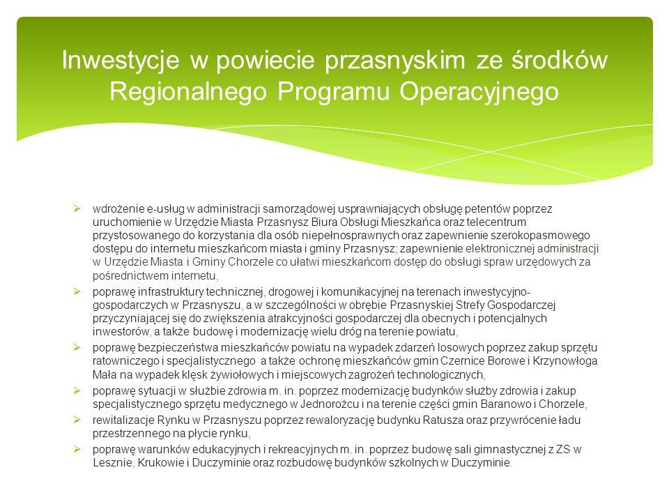  wdrożenie e-usług w administracji samorządowej usprawniających obsługę petentów poprzez uruchomienie w Urzędzie Miasta Przasnysz Biura Obsługi Miesz