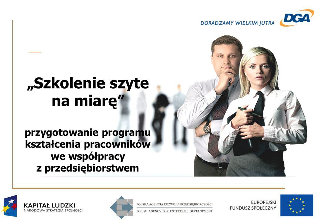 """""""Szkolenie szyte na miarę przygotowanie programu kształcenia pracowników we współpracy z przedsiębiorstwem"""